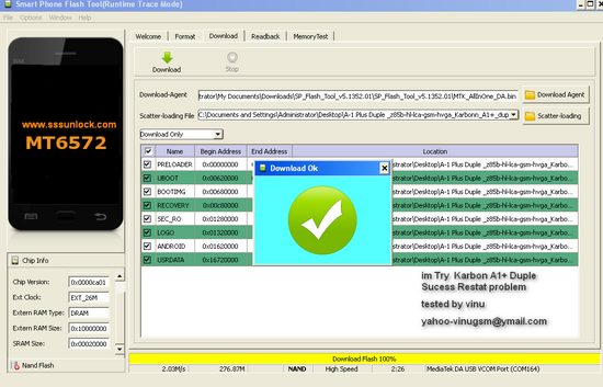 All MTK Smart phone Flashing method with SP Flash Tool